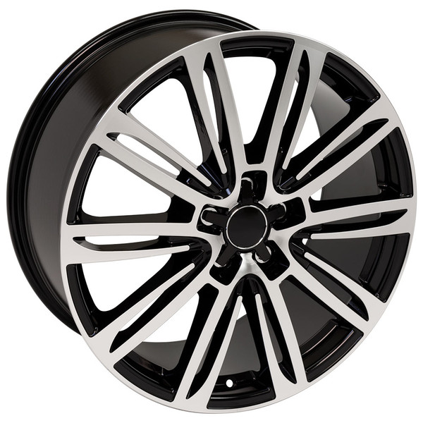 A7 style wheel fits Audi A7 black machined