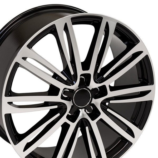 A7 style wheel fits Audi A8 black machined