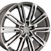 A7 style rim fits Audi A4 gunmetal machined