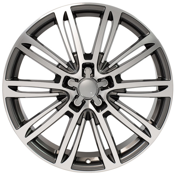 A7 style rim fits Audi A5 gunmetal machined