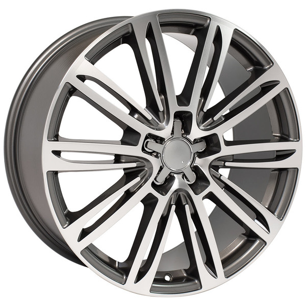 A7 style rim fits Audi A6 gunmetal machined