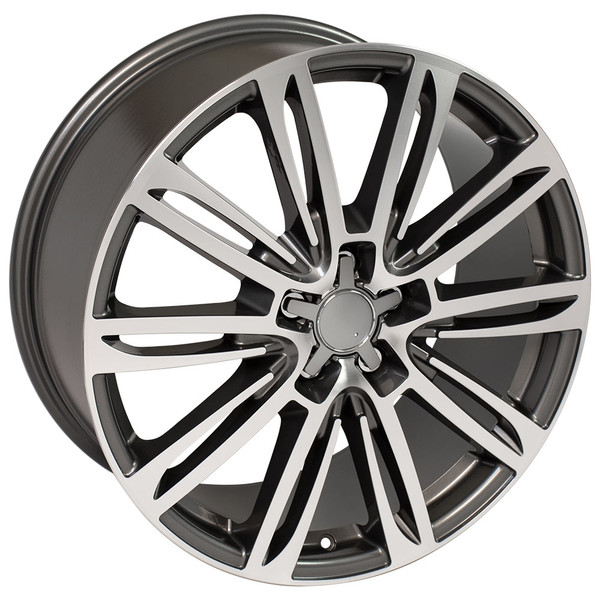 A7 style rim fits Audi A7 gunmetal machined
