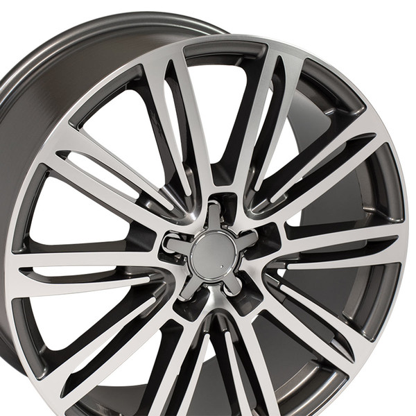A7 style rim fits Audi A8 gunmetal machined