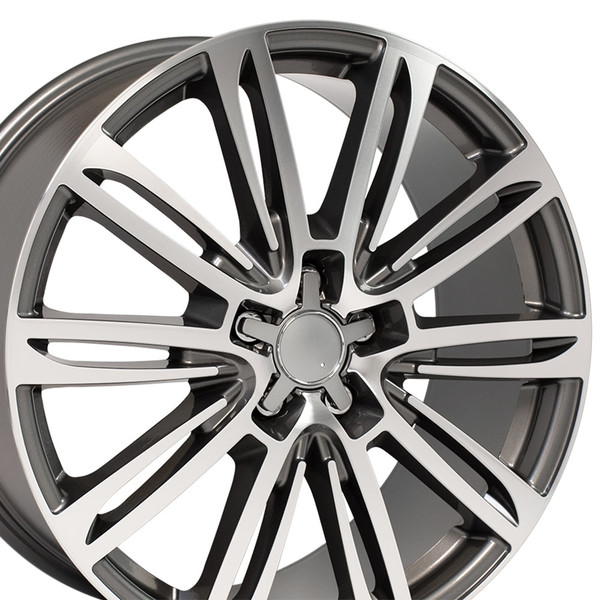 A7 style wheel fits Audi A4 gunmetal machined