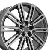 A7 style wheel fits Audi A4 gunmetal machined