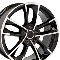 RS7 style rim fits Audi A5 machined black