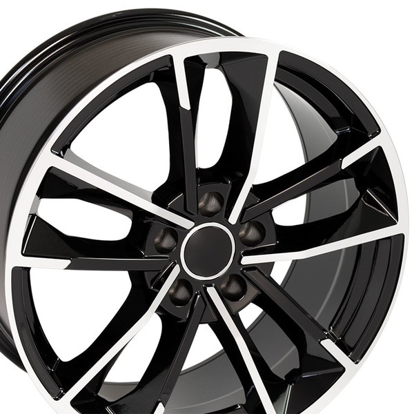 RS7 style wheel fits Audi A4 machined black
