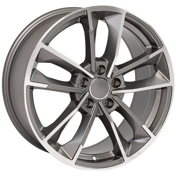 RS7 style wheel and tire package for Audi A5 machined gunmetal