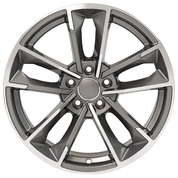 RS7 style rim fits Audi A4 machined gunmetal