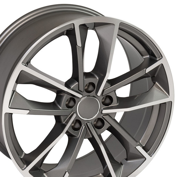 RS7 style rim fits Audi A8 machined gunmetal