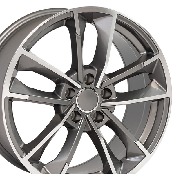 RS7 style wheel fits Audi A3 machined gunmetal