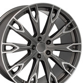 Q7 style rim fits Audi A5 Gunmetal machined