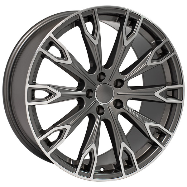 Q7 style rim fits Audi A4 Gunmetal machined