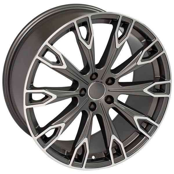 Q7 style rim fits Audi A8 Gunmetal machined