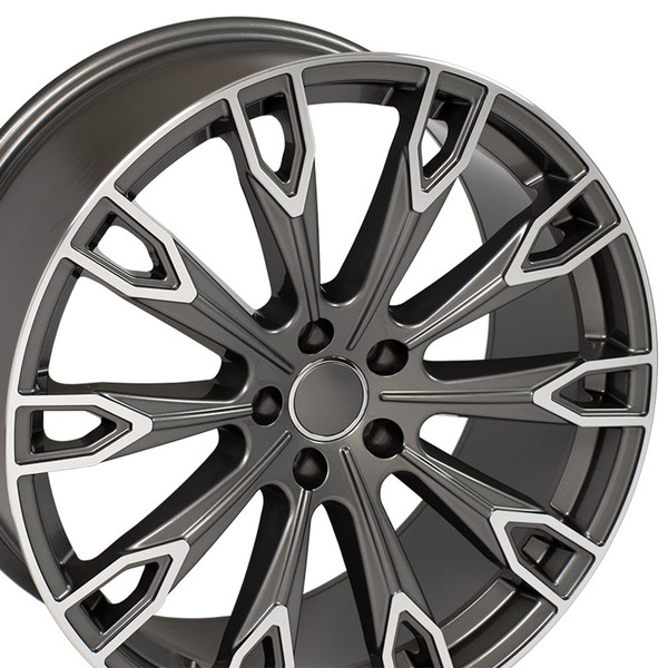 Q7 style rim fits Audi TT Gunmetal machined