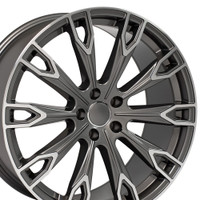 Q7 style wheel fits Audi A5 Gunmetal machined