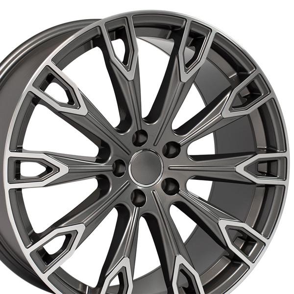 Q7 style wheel fits Audi A5 Gunmetal machined