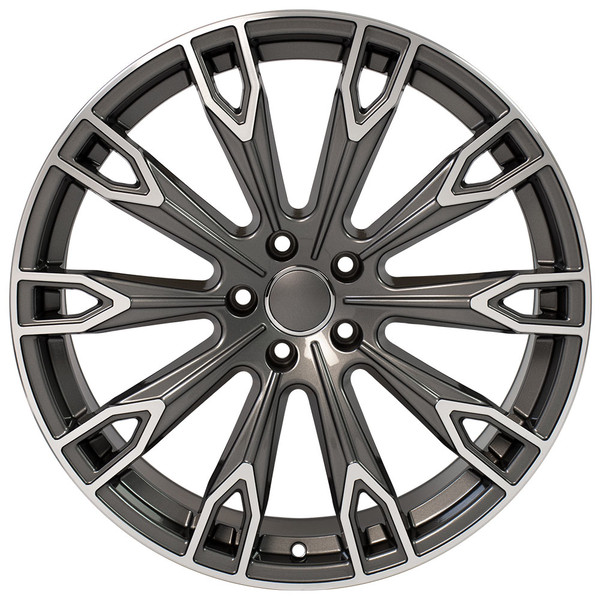 Q7 style wheel fits Audi A8 Gunmetal machined
