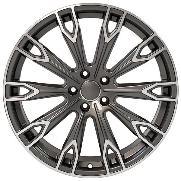Q7 style wheel fits Audi A8 Gunmetal machined