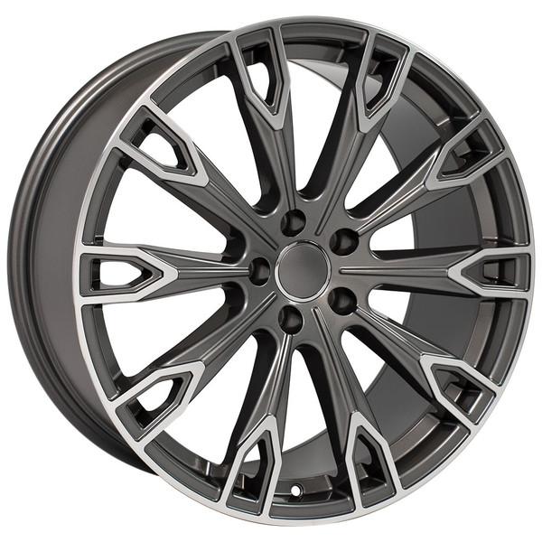 Q7 style wheel fits Audi Q5 Gunmetal machined