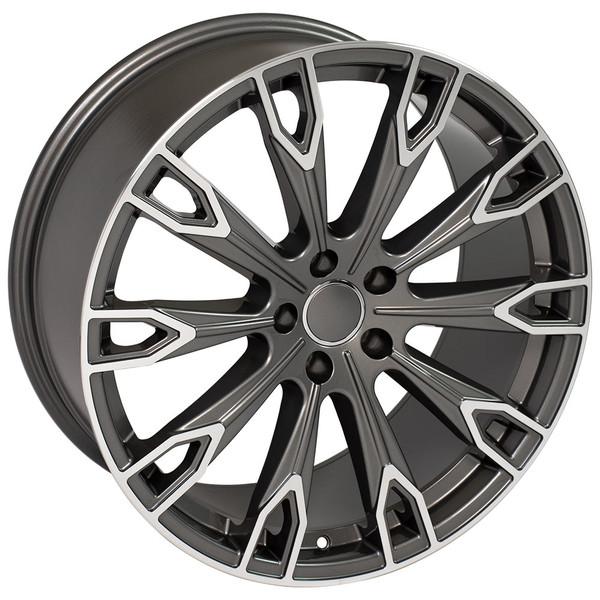 Q7 style wheel fits Audi Q7 Gunmetal machined