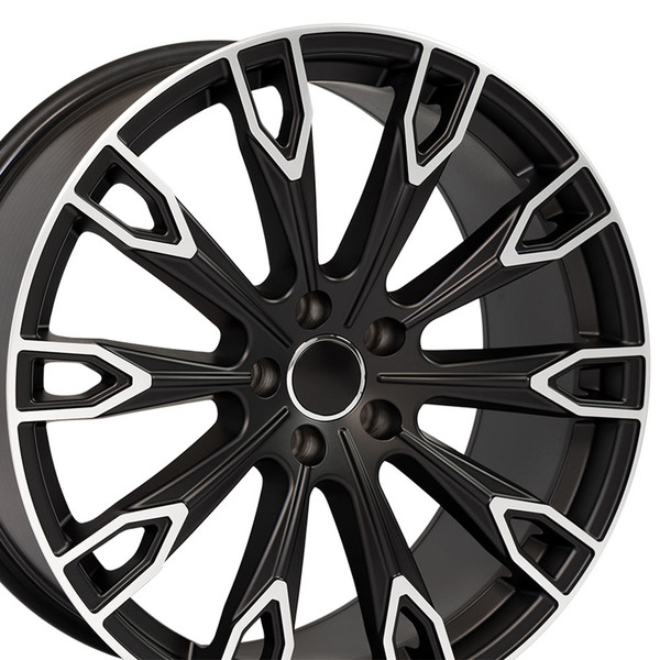 Q7 style rim fits Audi A5 Satin Black machined