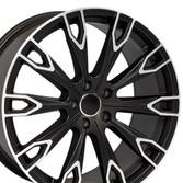 Q7 style rim fits Audi A5 Satin Black machined