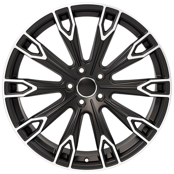Q7 style rim fits Audi A6 Satin Black machined