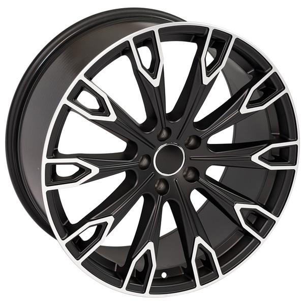 Q7 style rim fits Audi Q5 Satin Black machined