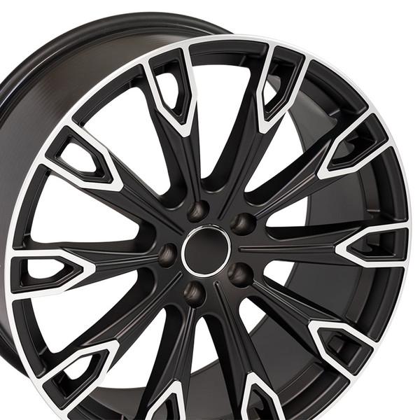 Q7 style rim fits Audi Q7 Satin Black machined