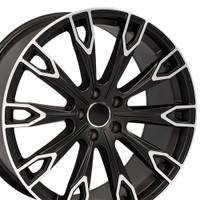 Q7 style wheel fits Audi A5 Satin Black machined