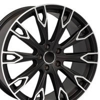 Q7 style wheel fits Audi A5 Satin Black machined