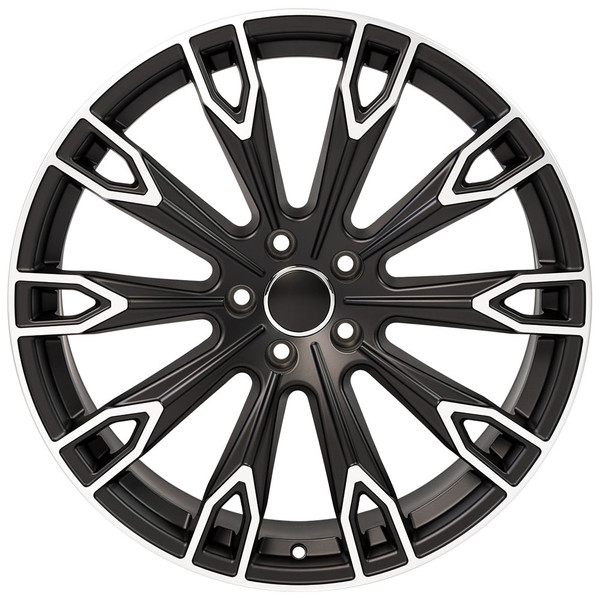 Q7 style wheel fits Audi A4 Satin Black machined