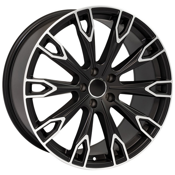 Q7 style wheel fits Audi A6 Satin Black machined