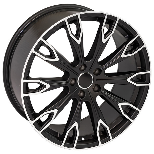 Q7 style wheel fits Audi Q5 Satin Black machined