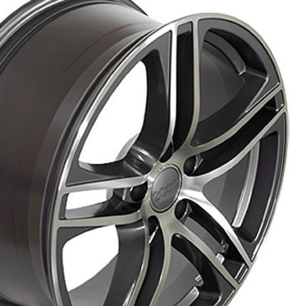 Audi R8 Style Replica Wheel Gunmetal 17x7.5