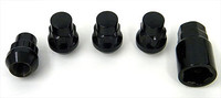Black Locking Lug Nuts Set 4
