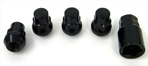 Black Locking Lug Nuts Set 4
