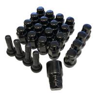 Black lugs locks and valve stems