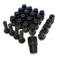 Black lugs locks and valve stems