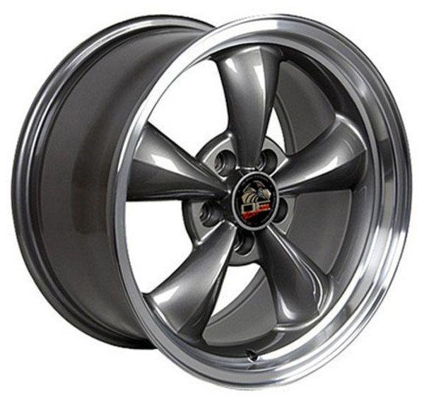 Set Of 17 Inch Machined Lip Anthracite Rims Fits Ford Mustang Fr01