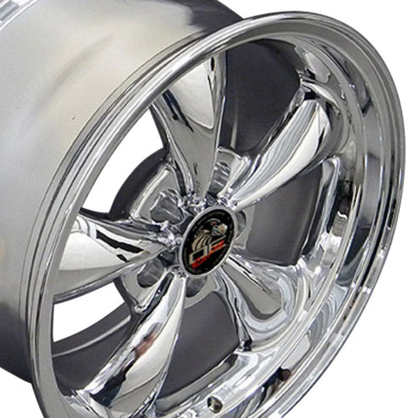 Set Of 17 Inch Chrome Rims Fits Ford Mustang Fr01 Replica Wheels