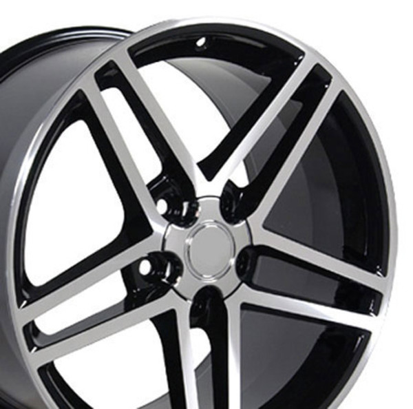 18x9.5 Black Machined C6 Z06 Rims