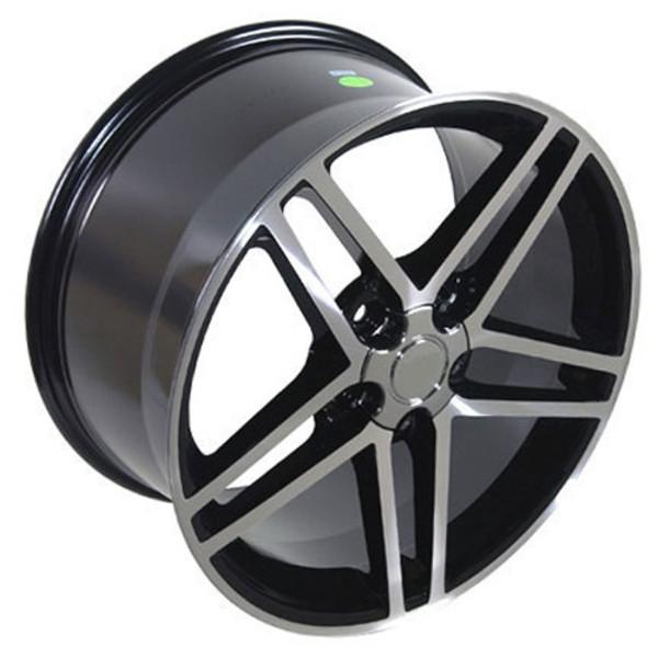 18x9.5 Black Machined C6 Z06 Wheels