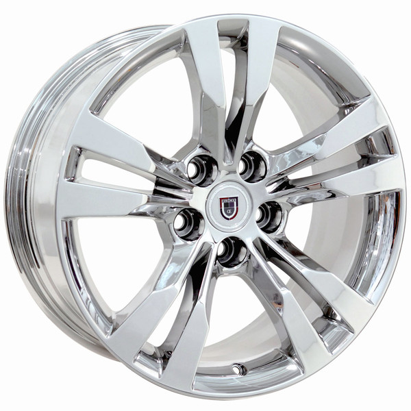 """CA15C 18"""" Chrome Rims & Ironman Tires For Cadillac CTS SET"""