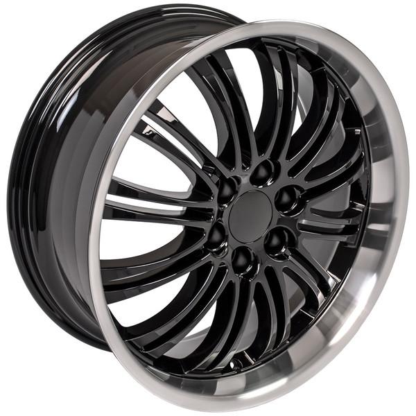 """CA81 Satin Black 22"""" Rims & Bridgestone Tires For Cadillac"""