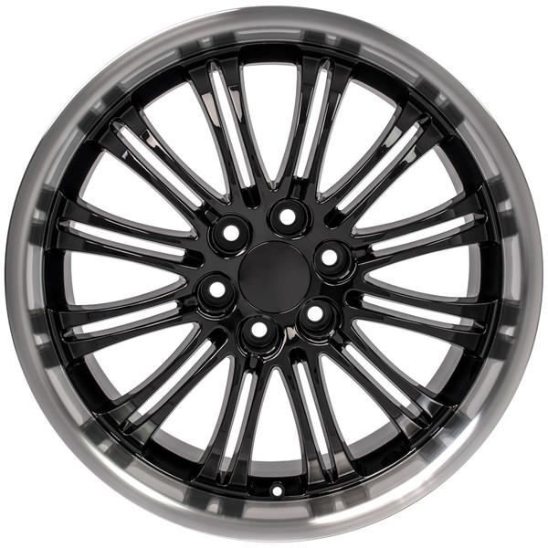 "22"" Wheels For Cadillac Escalade CA81 22x9 Black Rims SET"