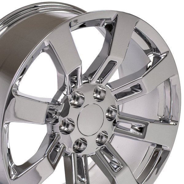 2014 Escalade with a set of CA82 chrome wheels for Cadillac, GMC, Chevy trucks and SUVs