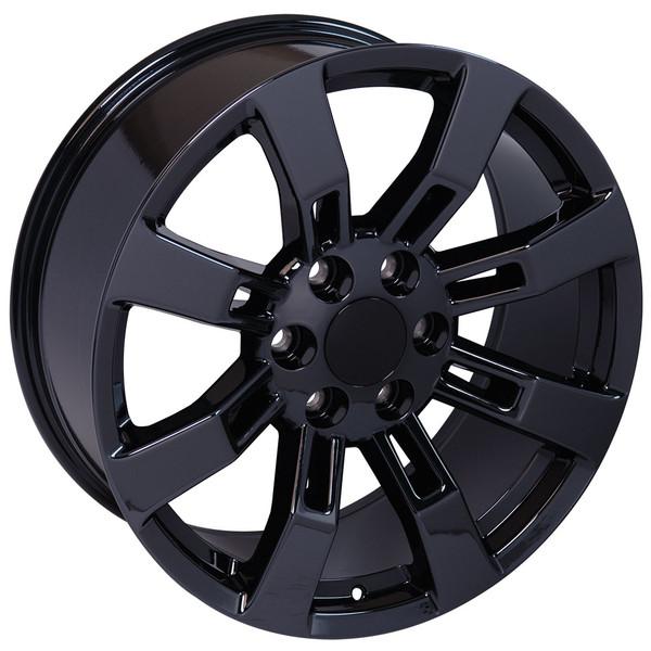 """20"""" Wheels For Cadillac Escalade CA82 20x8.5 Black Chrome"""