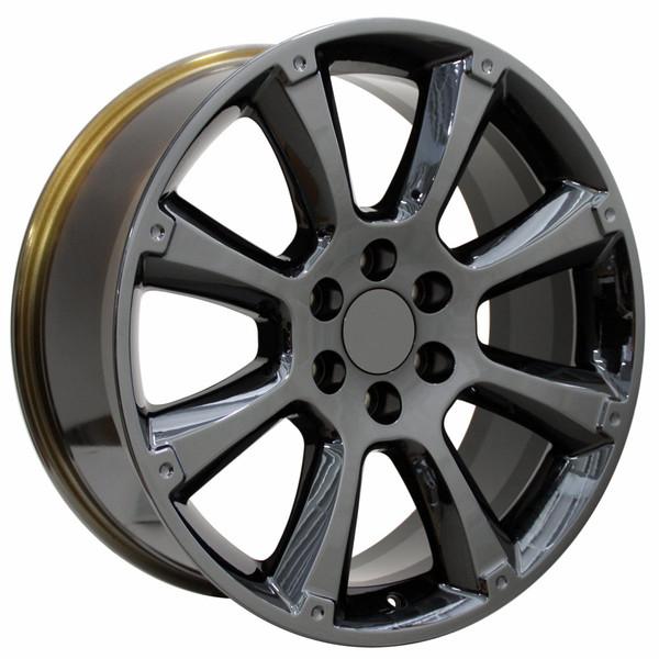 Cadillac Escalade Style Replica Wheels Black Chrome 22x9 SET